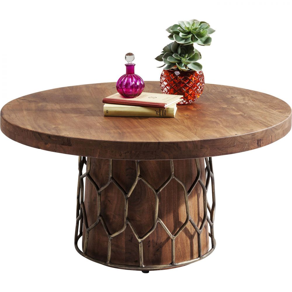Coffee Table Mesh Brass Ø85cm