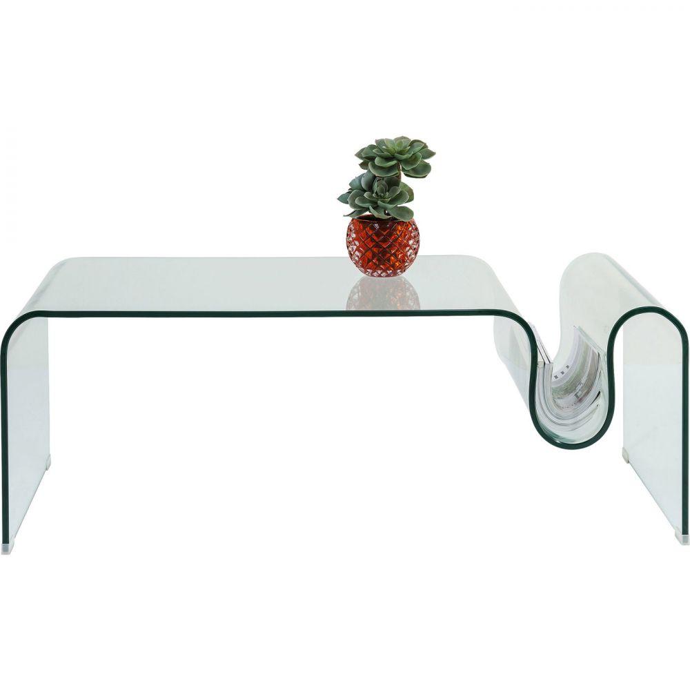 Coffee Table Clear Club Wave 60x120cm