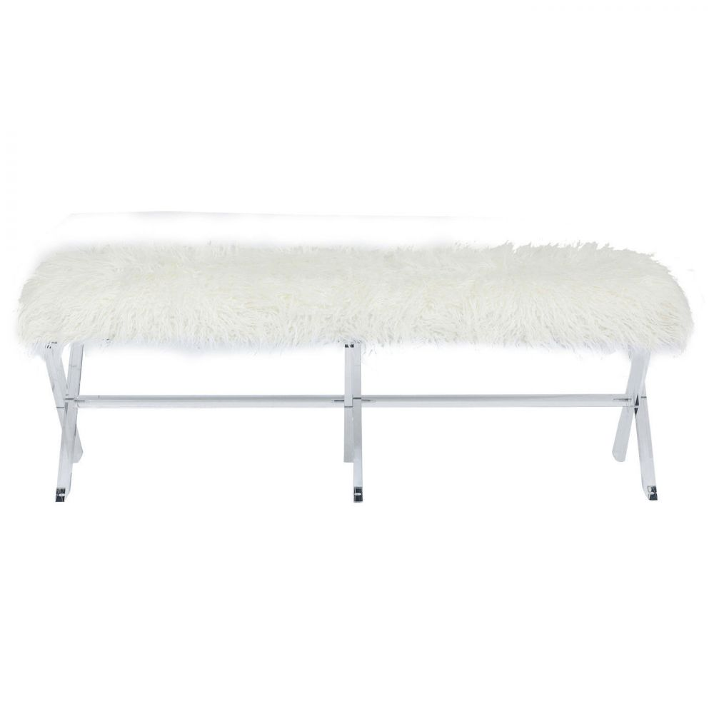 Bench Visible Fur White
