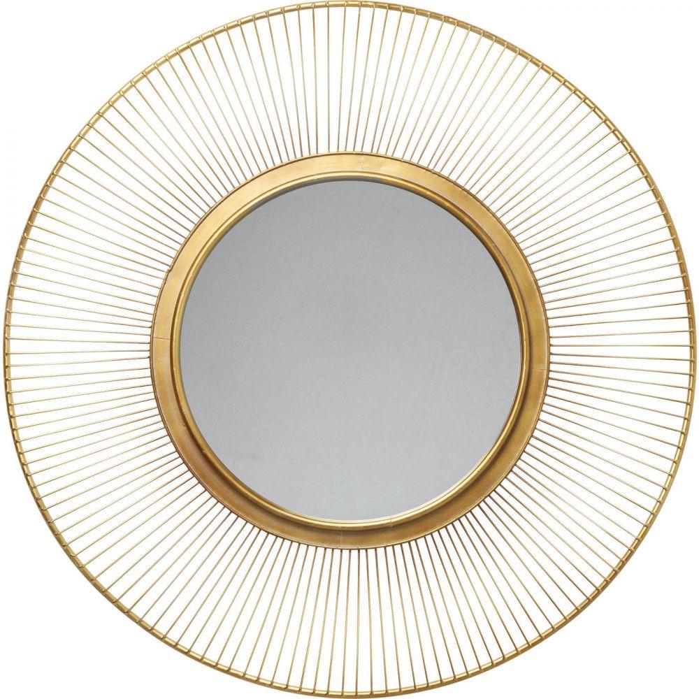 Mirror Sun Storm Gold Ø93cm