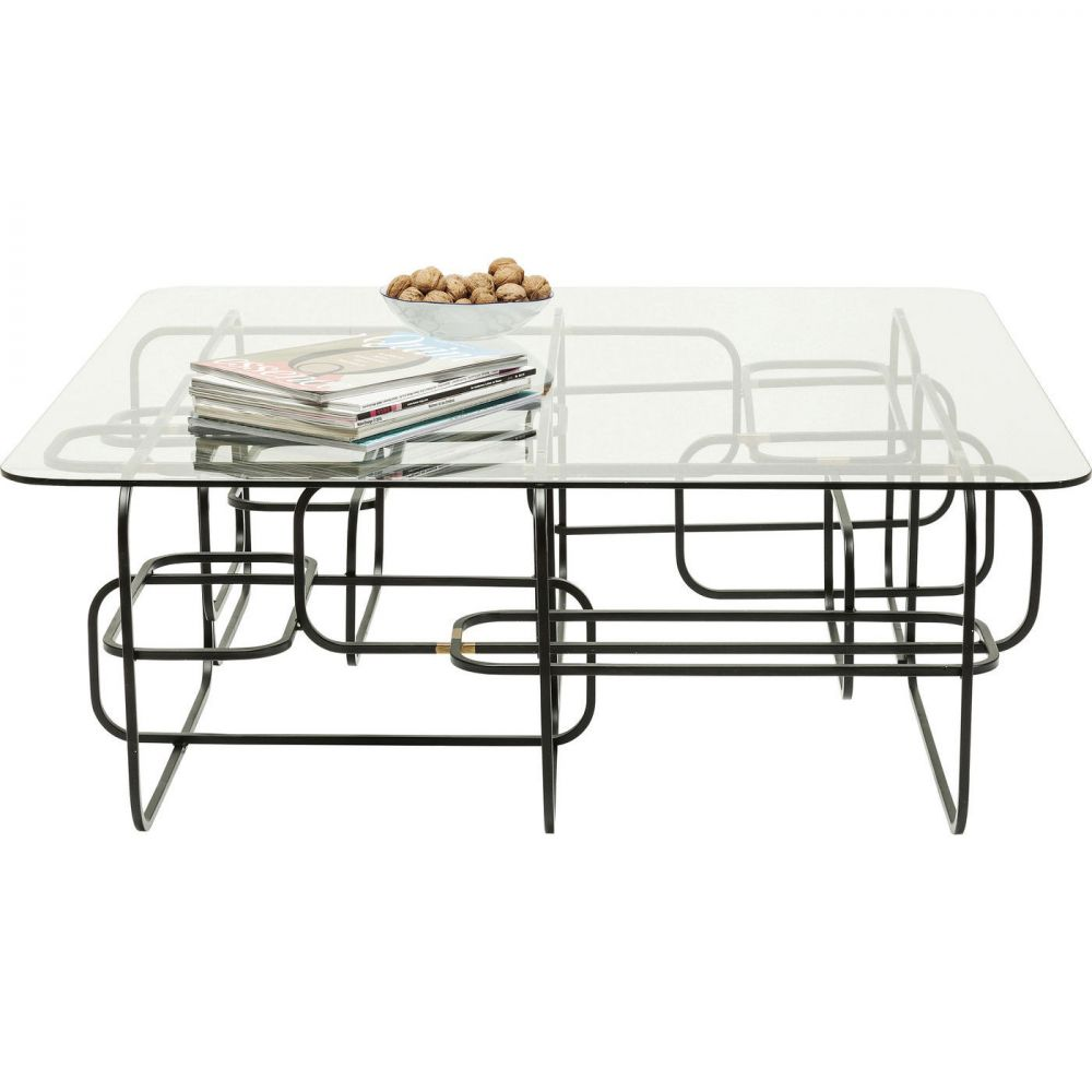 Coffee Table Meander Black 100x100cm