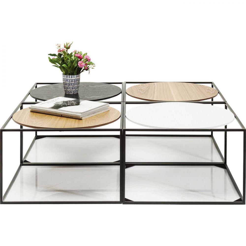Coffee Table Quattro Circles 100x100cm