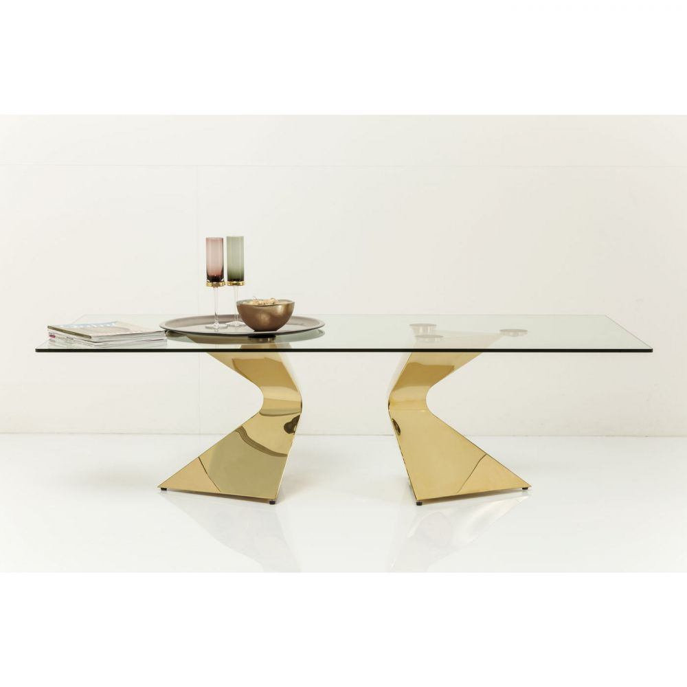 Coffee Table Gloria Gold 140x82cm