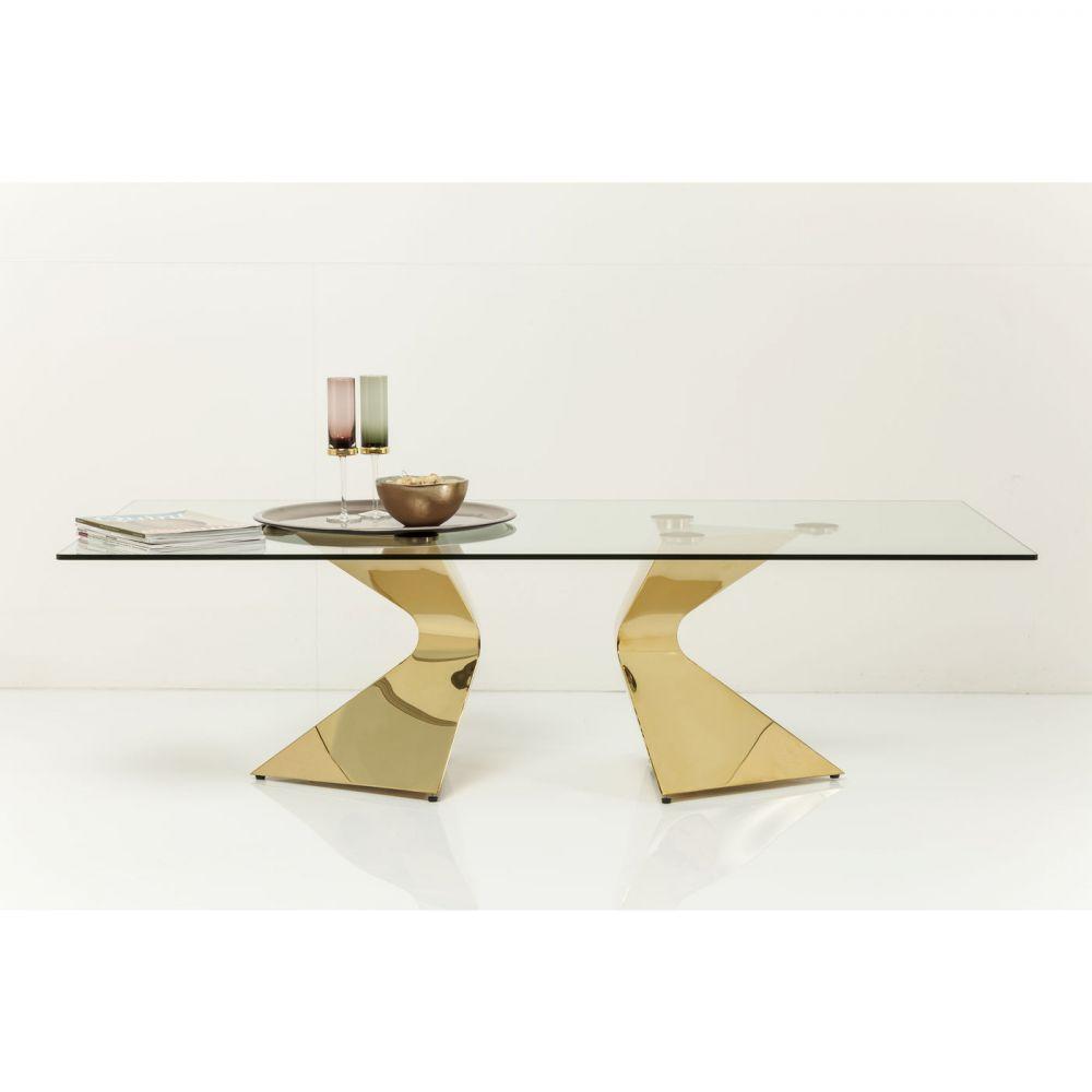 Coffee Table Gloria Gold 140x82cm