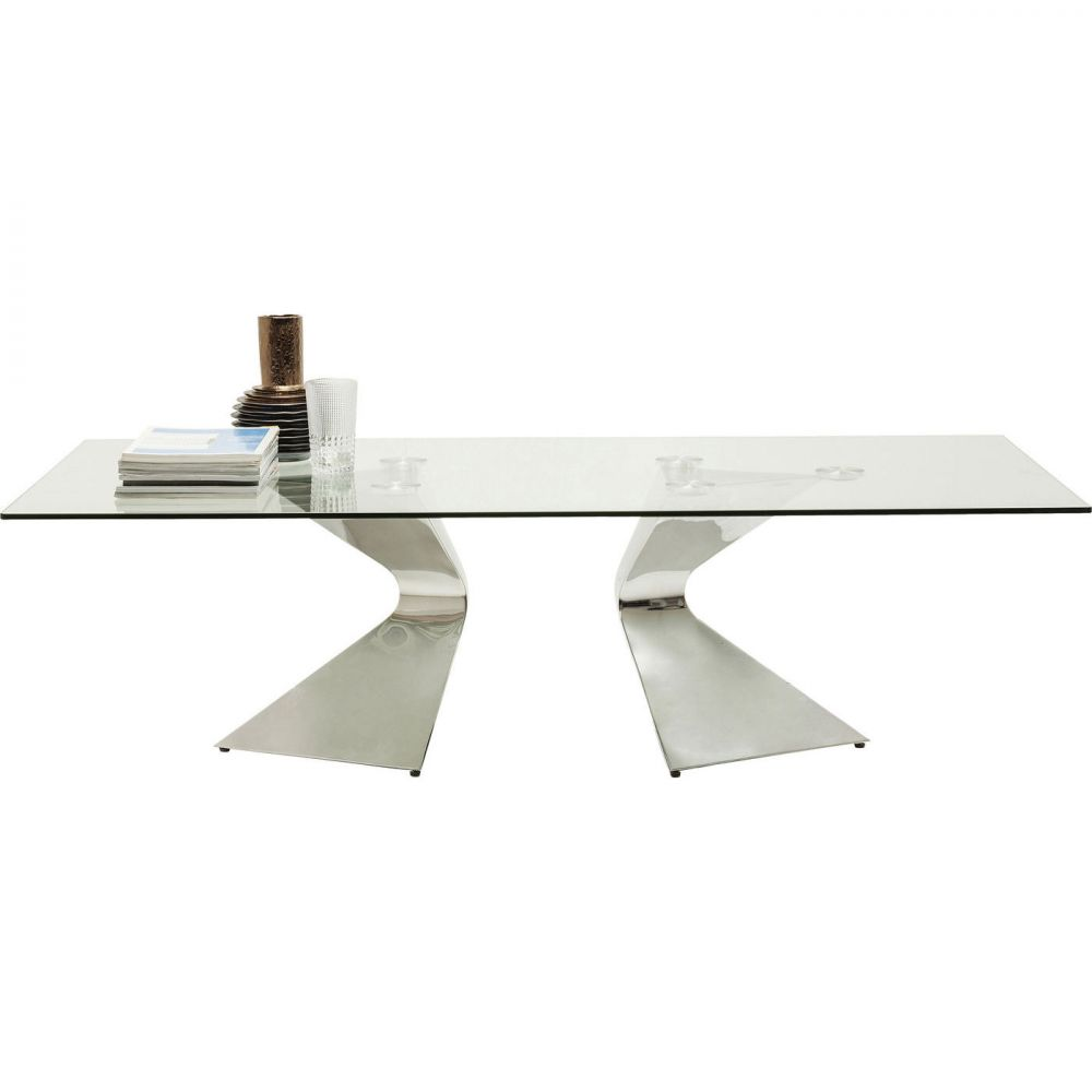 Coffee Table Gloria Chrome  140x82cm