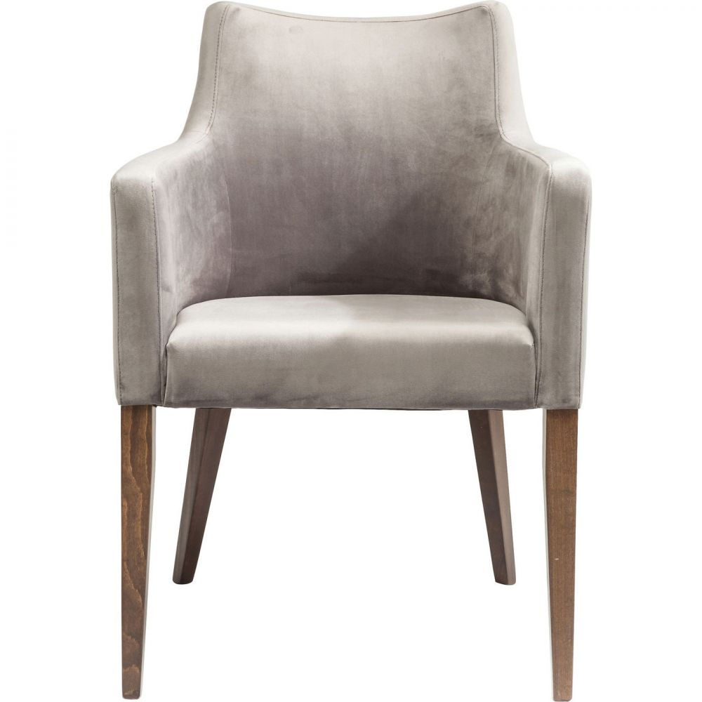 Chair with Armrest Mode Velvet Grey