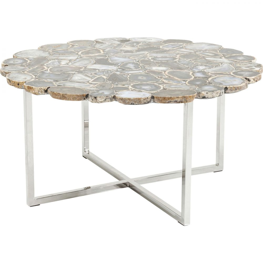 Coffee Table Tesoro Blue Ø80cm