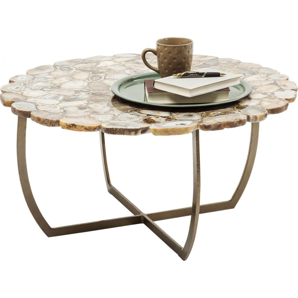 Coffee Table Tesoro Beige Ø80cm