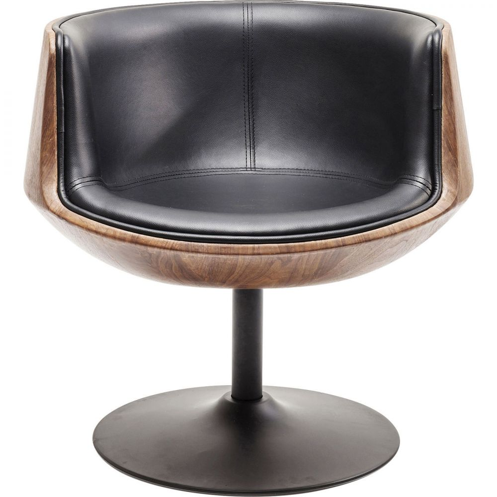 Swivel Armchair Club 54 Walnut