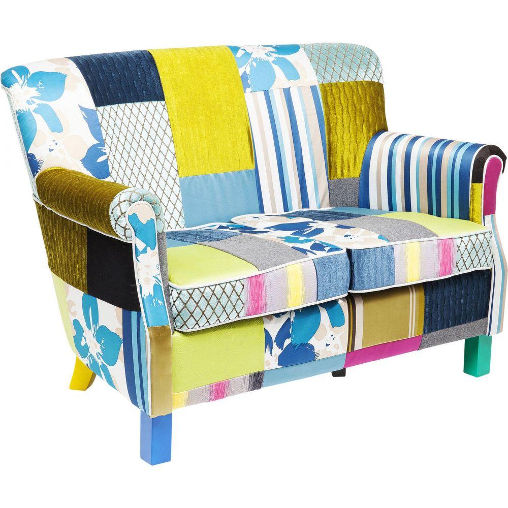 Sofa Patchwork Stripes 2-Seater
