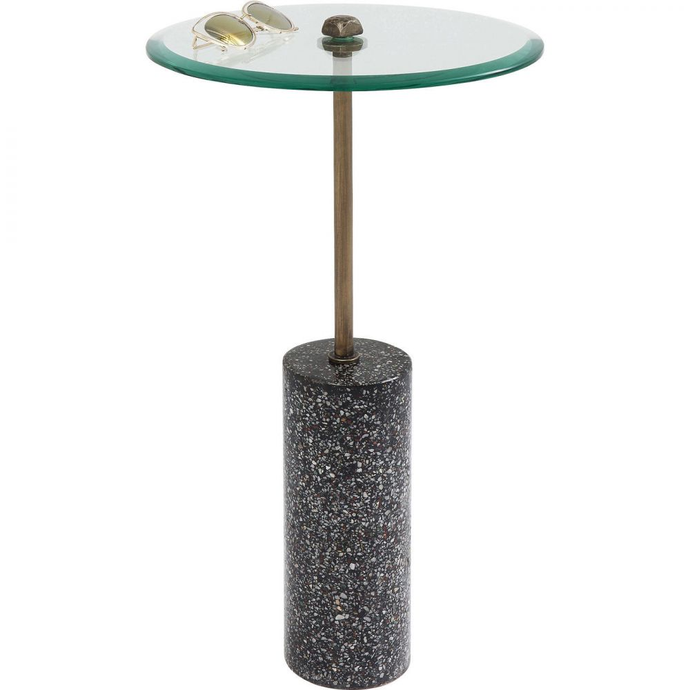Side Table Terrazzo Visible Black  67c