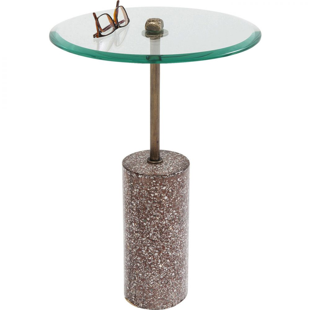 Side Table Terrazzo Visible Red 54cm