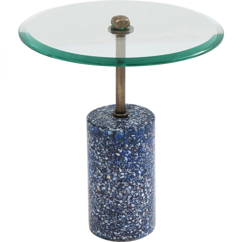 Side Table Terrazzo Visible Blue 46cm