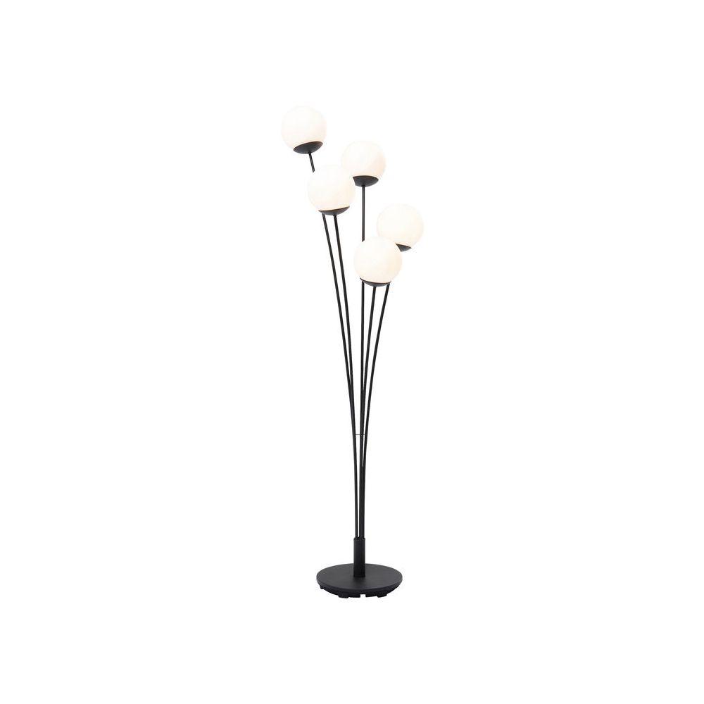 Floor Lamp Five Balls Matt Black (Excluding Bulb)
