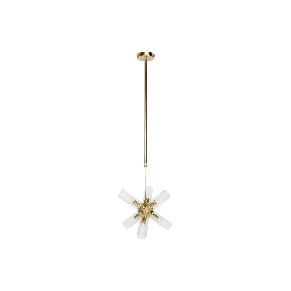 Piper Large Hanging Lamp Brushed Gold (Excluding Bulb And Socket)