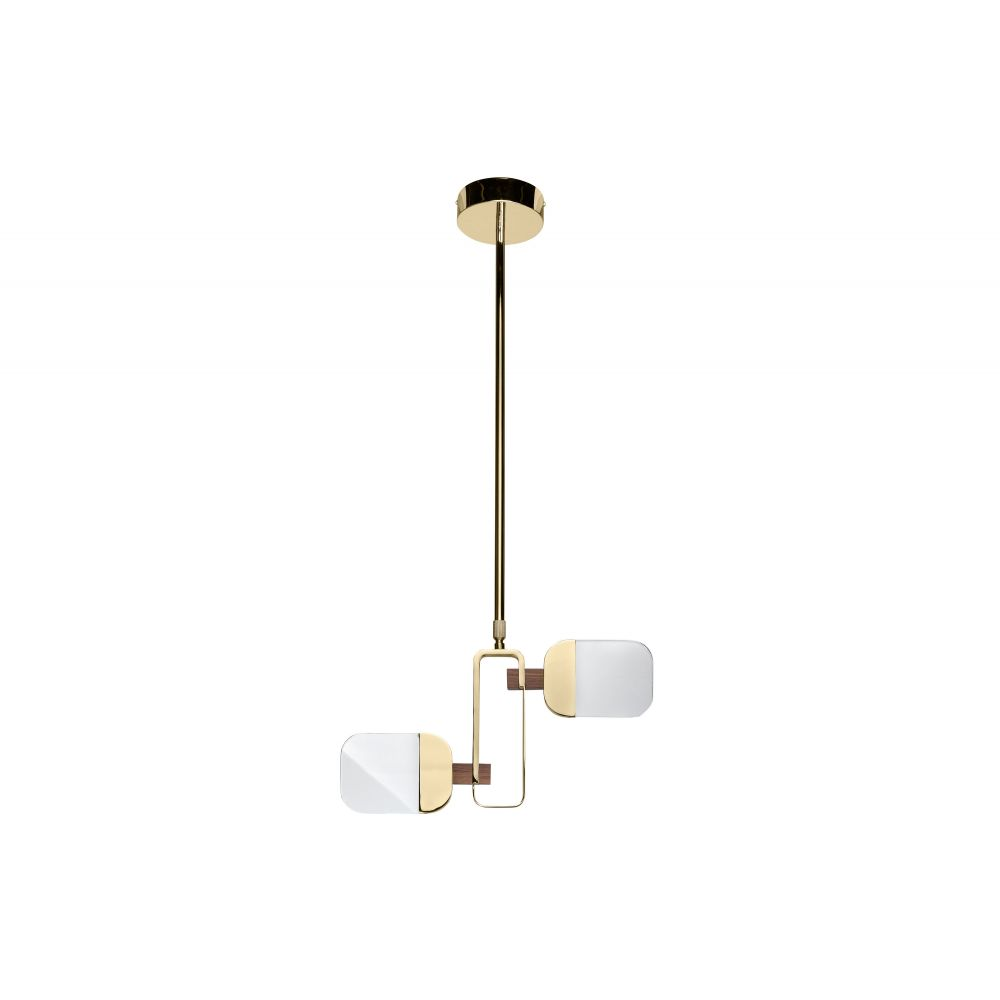Dislocate Hanging Lamp Gold/Dark Walnut (Excluding Bulb And Socket)