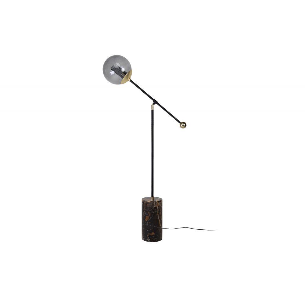 Orbit Floorlamp Blackpowdercoat+Mattgold (Excluding Bulb)