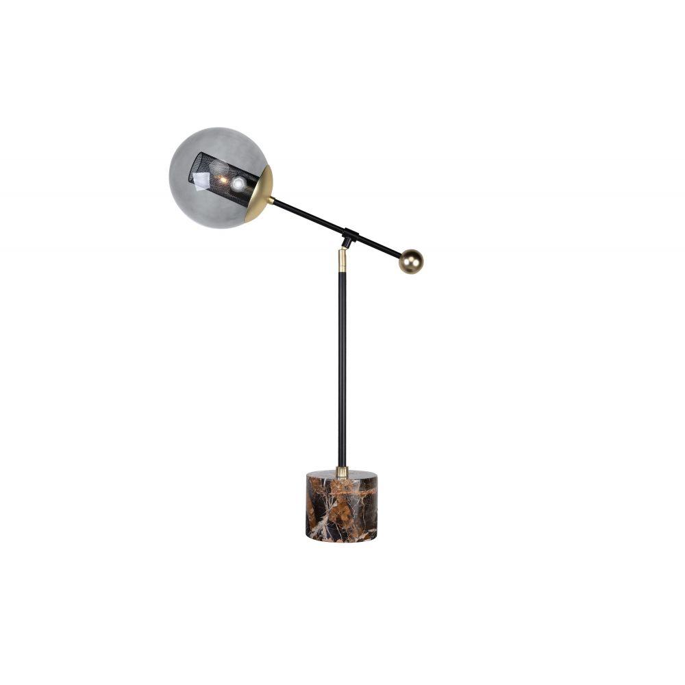 Orbit Tablelamp Black Powdercoat+Matgold (Excluding Bulb)
