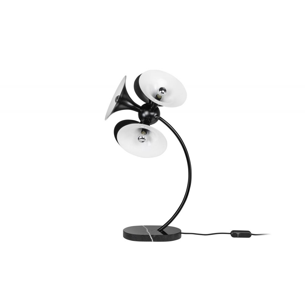 Jazz Table Lamp Black+White (Excluding Bulb)