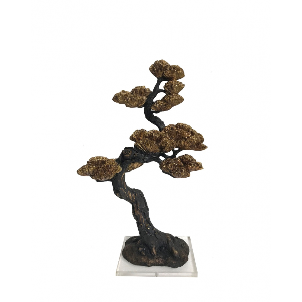 Pine And Cypress Tree In Resin Bronze/Gold
