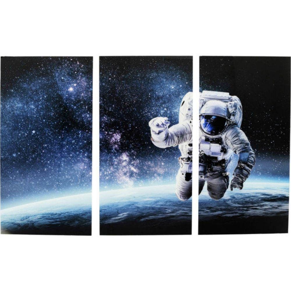 Picture Triptychon Man In Space 160X