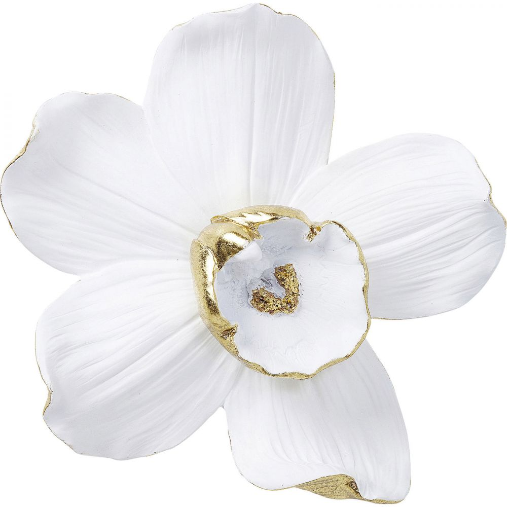Wall Decoration Orchid White 25Cm