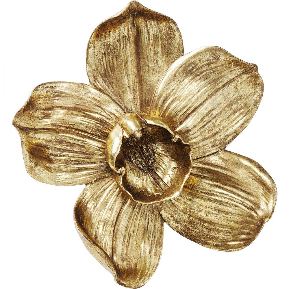 Wall Decoration Orchid Gold 44Cm