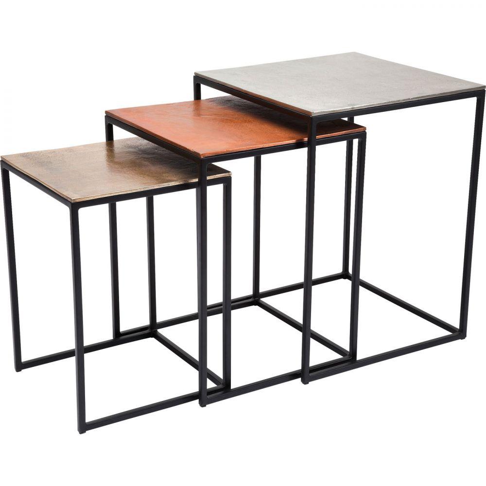 Side Table Loft Square Vintage (3/Set)