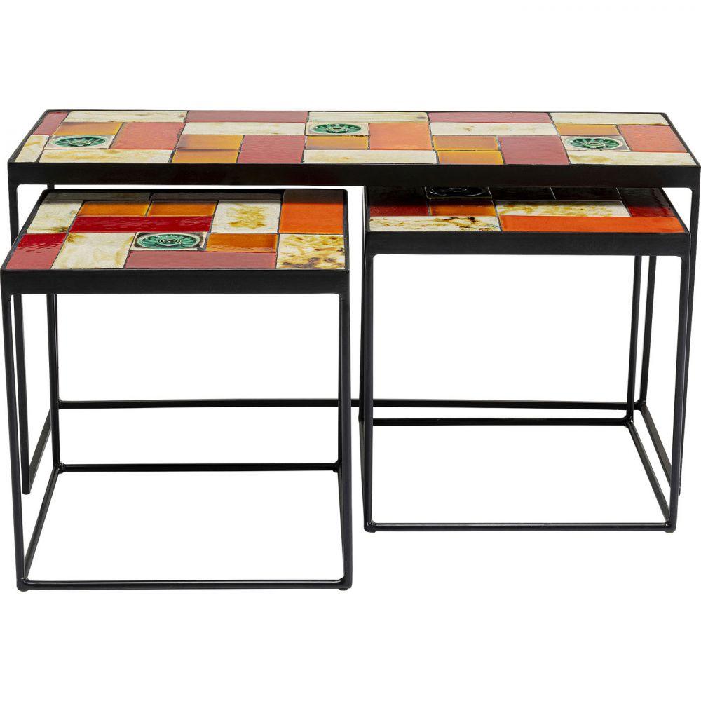 Side Table Lisboa Ceramic Top(3/Set)