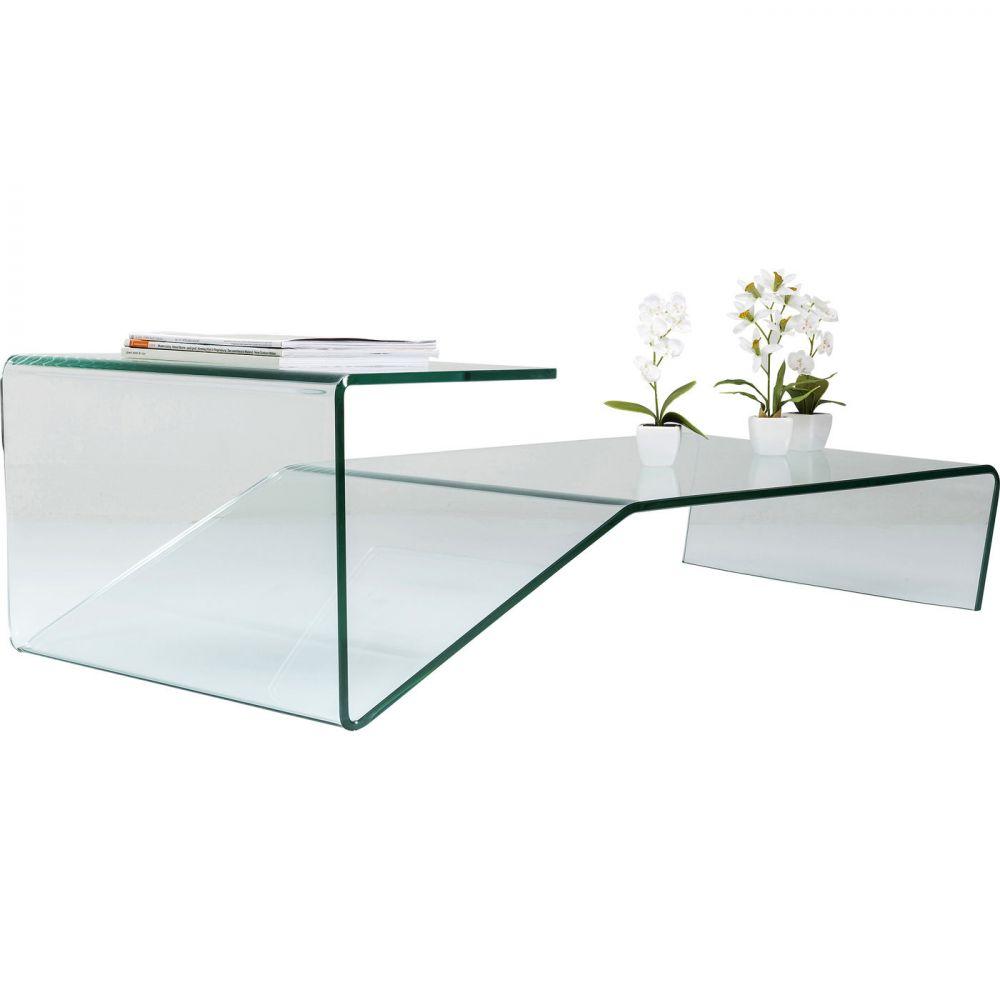 Coffee Table Clear Club Slide 60x120cm