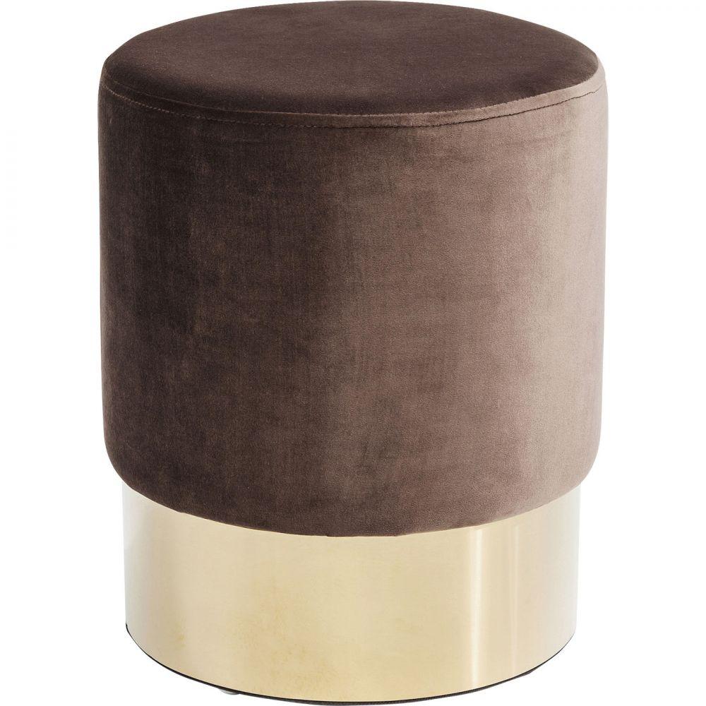 Stool Cherry Brown Brass  Ø35cm