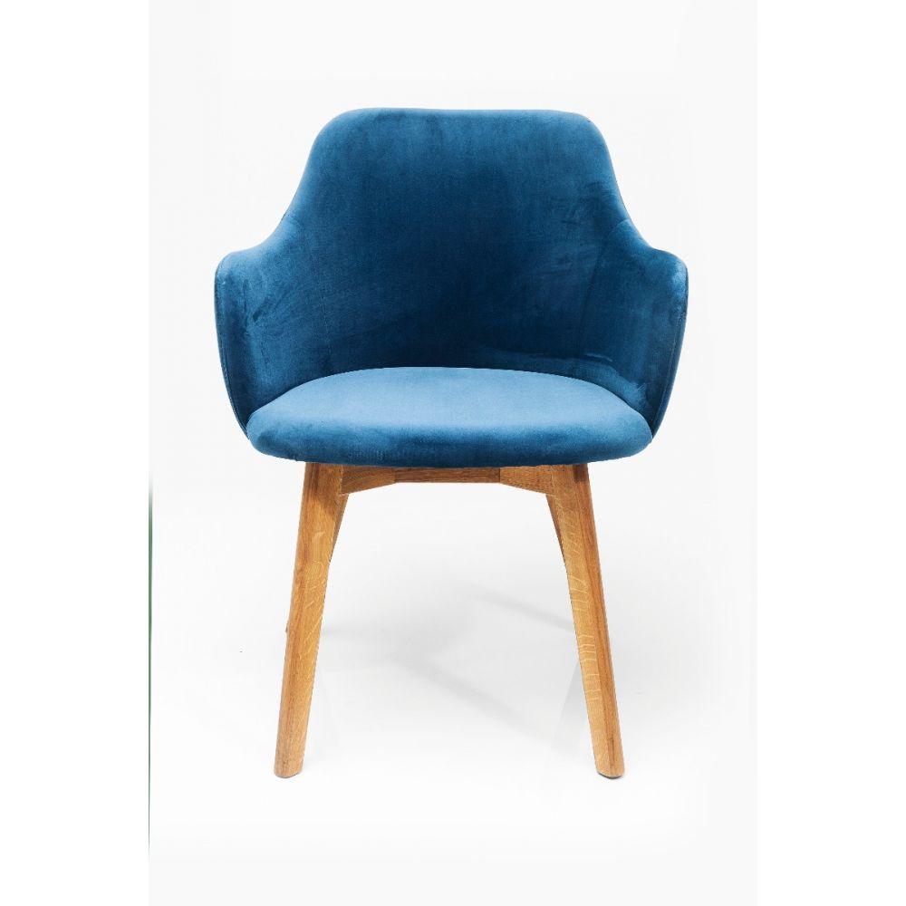 Chair With Armrest Lady Velvet Petrol