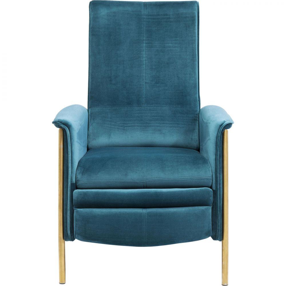 Relax Chair Lazy Velvet Blue