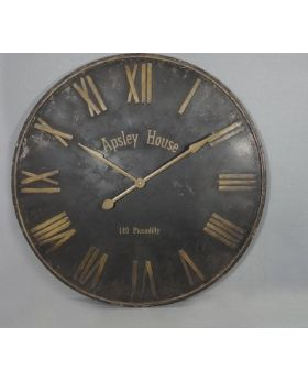WALL CLOCK  BLACK 'ASPLEY HOUSE' D92cm