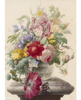 VINTAGE ILLUSTRATION OF FLOWERS,RIJKSMUS 133072XL (4 PANELS)