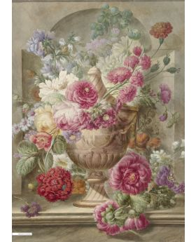 VINTAGE ILLUSTRATION OF FLOWERS,RIJKSMUS 133074XL (4 PANELS)