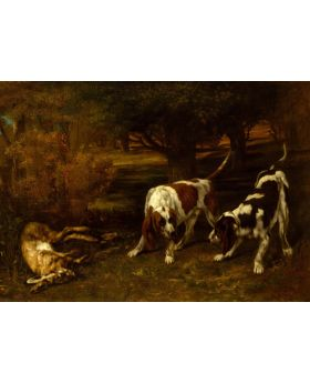 GUSTAVECOURBET-HUNTINGDOGS DEADHARE,1857 134791XL (4 PANELS)