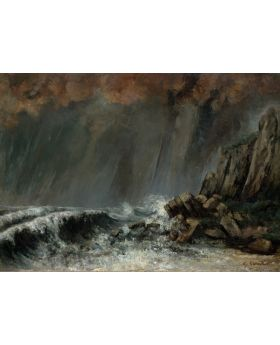 GUSTAVECOURBET-MARINE:THEWATERSPOUT,1870 134793XL (4 PANELS)
