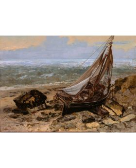 GUSTAVE COURBET - THE FISHING BOAT, 1865 134796XL (4 PANELS)