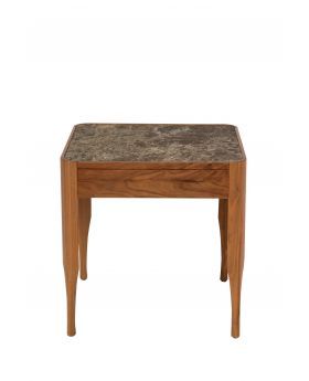 Chiara Lamp Table W/Walnut/Ceramic Top