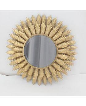 Round Mirror Ant.Gold Iron 'Soleil'
