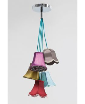 Pendant Lamp Saloon Flowers 5 (Excluding Bulb And Socket)