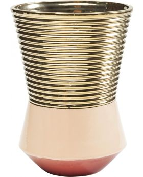 VASE PIPE TAILLE COLORE 22CMGOLDEN
