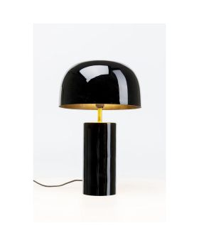 TABLE LAMP LOUNGY BLACK (EXCLUDING BULB)