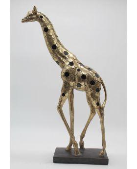 Giraffe Ant.Gold Resin+Mirror H55