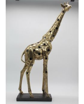 Giraffe Ant.Gold Resin +Mirror