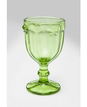 Wine Glass Goblet Butterfly Olivegreen