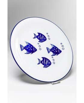 Plate Aquarium DIA27Cmblue
