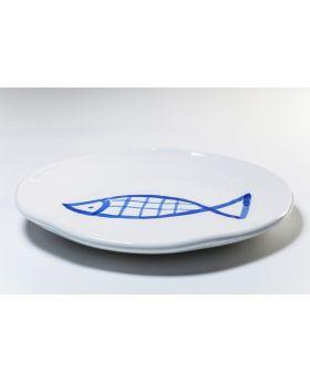 Plate Rio Pesce DIA37Cmblue