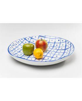 Plate Rio Square DIA44Cmblue